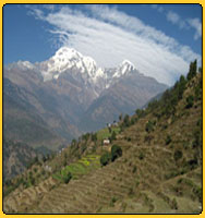 View of Annapurna range from Landruk - Everest Annapurna and cHitwan adventures