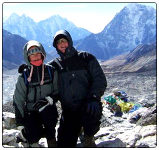 Pascal and Danielle in Everest trek