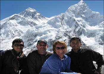 John and Mahendra team in Everest base camp trek