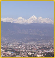 Kathmandu valley with Himalaya in a clear day!