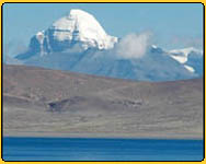 Kailash masnarovar  yatra - view from the lake