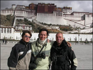 Alberto and team in Lhasa Tibet tour