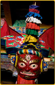Mask dance in Mustang Nepal